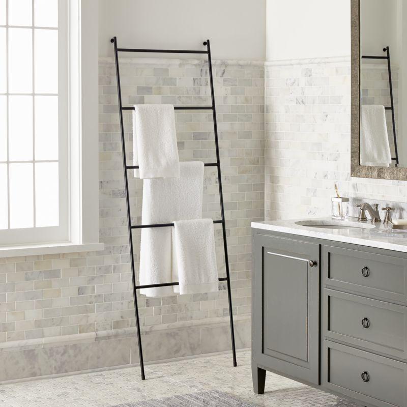 Jackson Black Towel Ladder  Reviews  Crate and Barrel