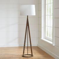 Jackson Dark Brown Floor Lamp | Crate and Barrel