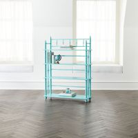 Jenny Lind Bookcase (Teal) | Crate and Barrel