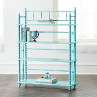Jenny Lind Teal Bookcase + Reviews | Crate and Barrel