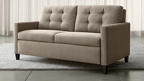 crate and barrel davis sofa leather dfs brown bed beds sleeper sofas |