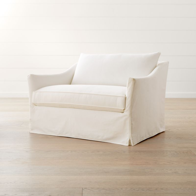 slipcover for chair and a half hans wegner style only keely reviews crate barrel