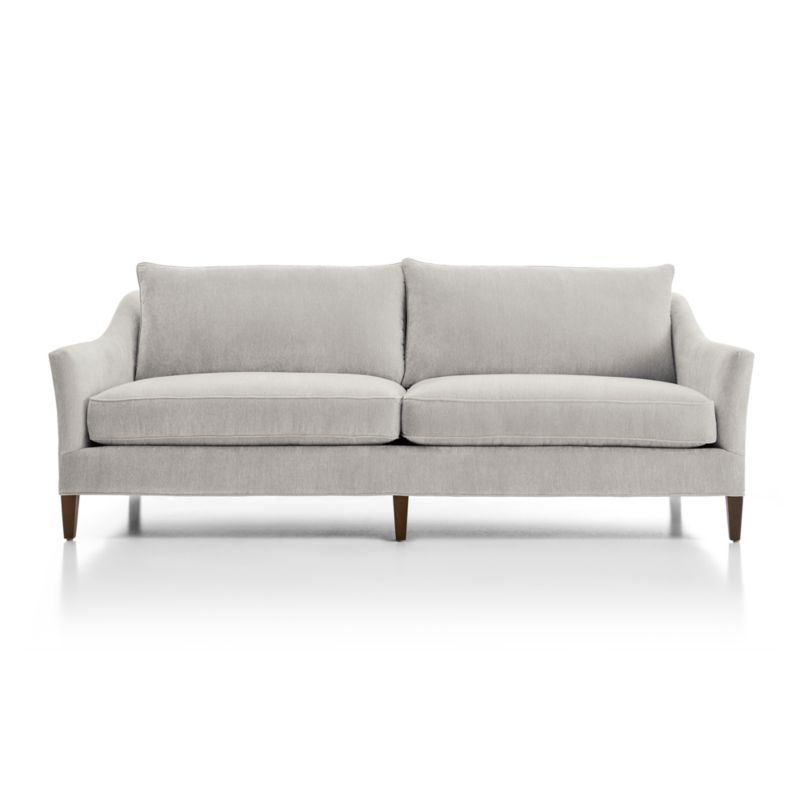chenille sofa fabric care donghia toulouse keely + reviews | crate and barrel