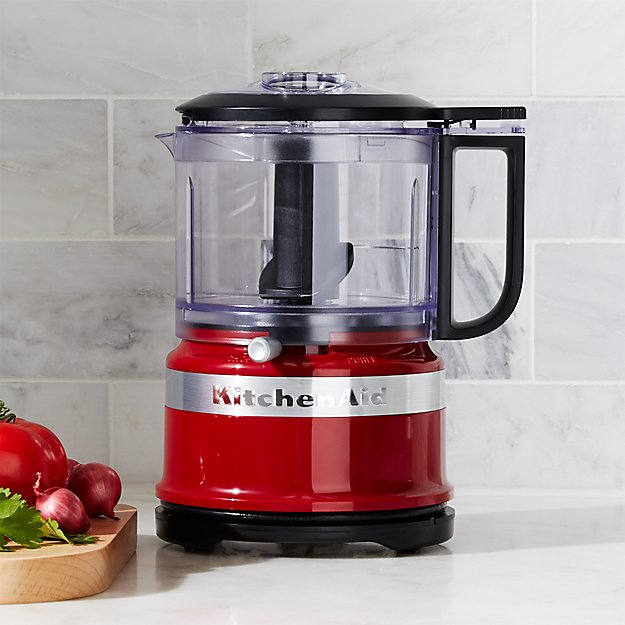 KitchenAid Empire Red 35 Cup Food Chopper Crate And