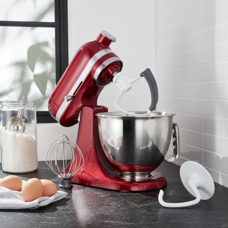 red kitchen aid mixer broan exhaust fan kitchenaid artisan mini candy apple stand with flex edge beater reviews crate and barrel