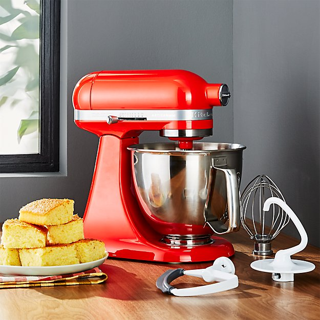kitchen electrics hansgrohe faucet reviews kitchenaid ® artisan hot sauce mini mixer with flex edge ...