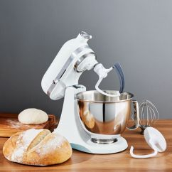 White Kitchen Aid Corner Booth Seating Kitchenaid Artisan Mini Mixer With Flex Edge Beater Reviews Crate And Barrel