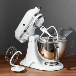 White Kitchen Aid Custom Cabinets Richmond Va Kitchenaid Artisan Matte Stand Mixer Reviews Crate And Barrel Kitchenadstdmxrmattewhiteshf16