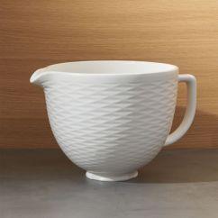Kitchen Aid Bowls Small Tables Sets Kitchenaid 5 Qt Textured Ceramic Bowl Reviews Crate And Barrel Kitchenaid5qtcrmcbowltxtrdshf16