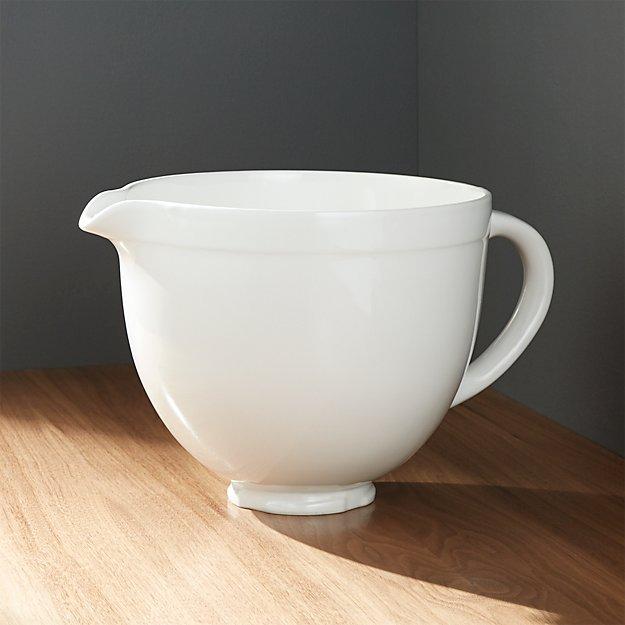 KitchenAid Ceramic White Bowl Crate And Barrel