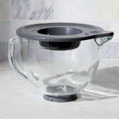 Kitchen Aid Bowls Cookware Kitchenaid Stand Mixer Glass Bowl Reviews Crate And Barrel Kitchenaid5qtglssbwlformxrshf16