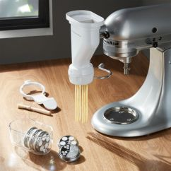 Kitchen Aid Pasta Glass Knobs Kitchenaid Stand Mixer Press Attachment Reviews Crate And Barrel