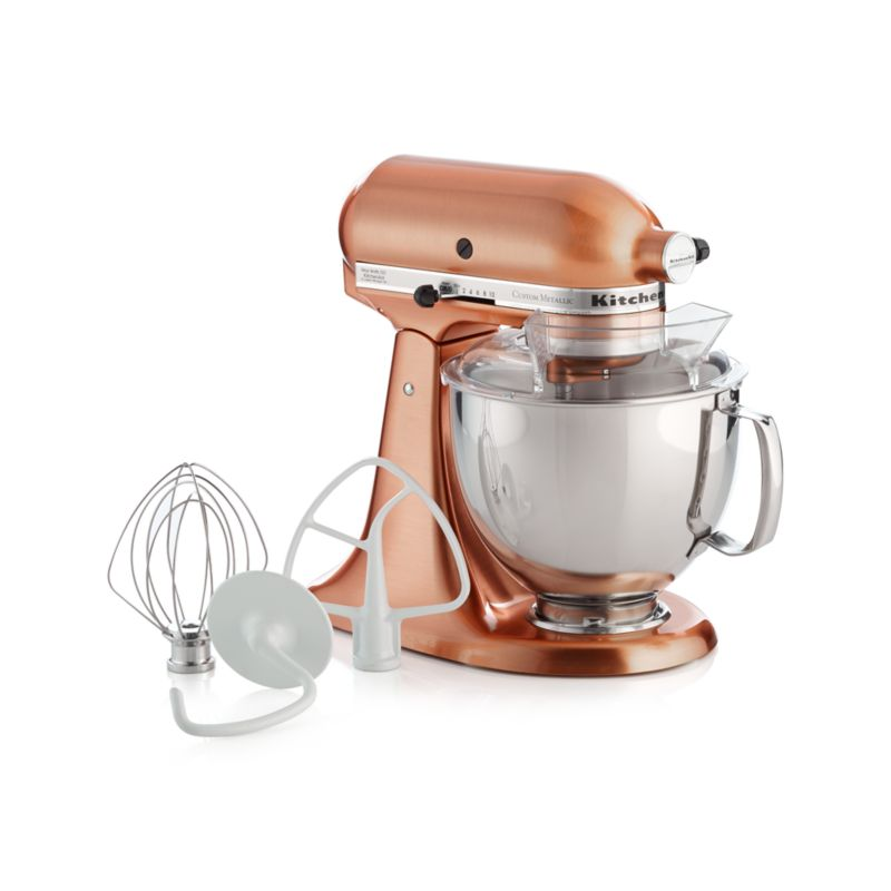 copper kitchen aid mixer popular paint colors for kitchens kitchenaid metallic series stand in mixers ...