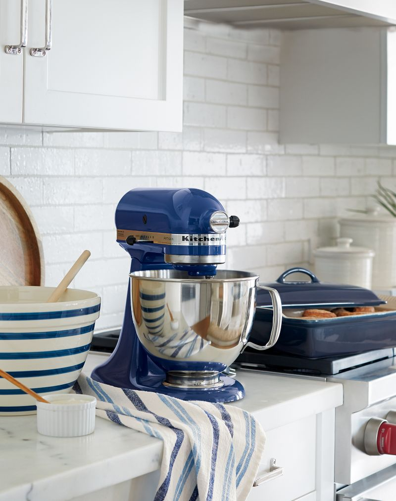 KitchenAid KSM150PSBW Artisan Blue Willow Stand Mi In Mixers Reviews Crate And Barrel