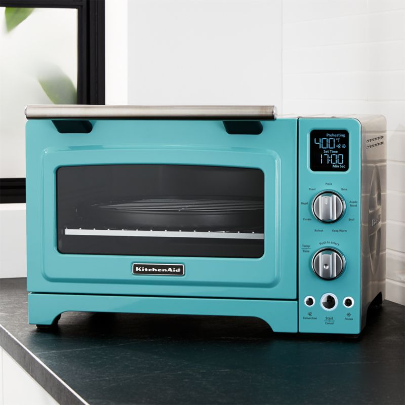 Blue KitchenAid Countertop Oven Reviews Crate And Barrel