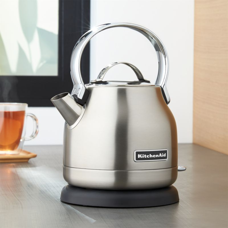 KitchenAid Silver Electric Kettle  Reviews  Crate and Barrel