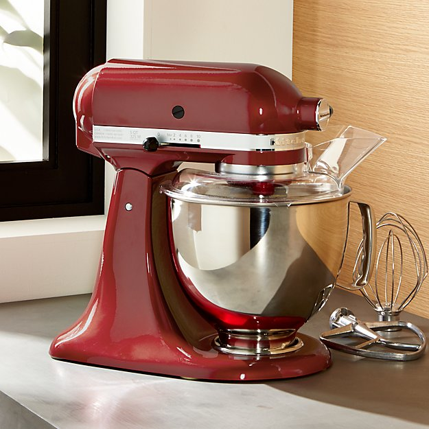 KitchenAid KSM150PSER Artisan Empire Red Stand Mix Crate And Barrel