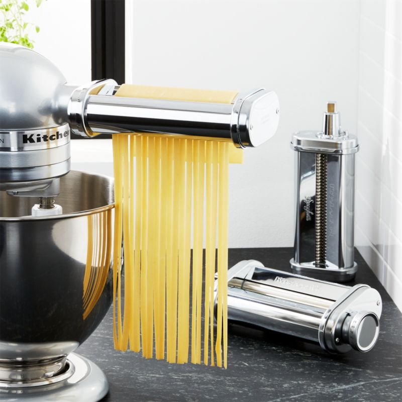 kitchen aid pasta how much does a remodel cost kitchenaid 3 piece roller and cutter set reviews crate kitchenaidpastaatchshf16