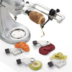 Kitchen Aid Attachment Hammered Copper Backsplash Kitchenaid Spiralizer + Reviews | Crate And Barrel
