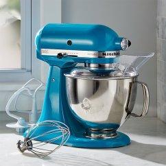 Kitchen Aid Professional Mixer Towel Holder Kitchenaid Ksm150pson Artisan Ocean Drive Stand Mi | Crate ...