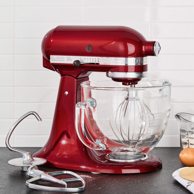 red kitchen aid mixer ninja mega kitchenaid artisan design series candy apple stand reviews crate and barrel