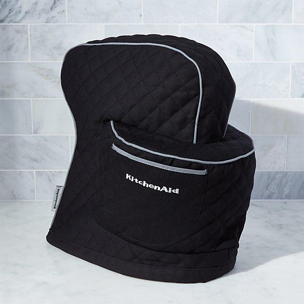 kitchen aide mixer decorative towels kitchenaid ® onyx black cover | crate and barrel