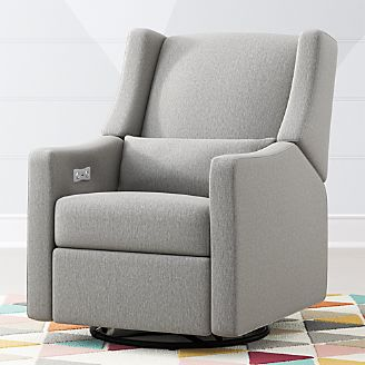 blue glider chair swivel process rocking chairs and gliders crate barrel babyletto kiwi power recliner