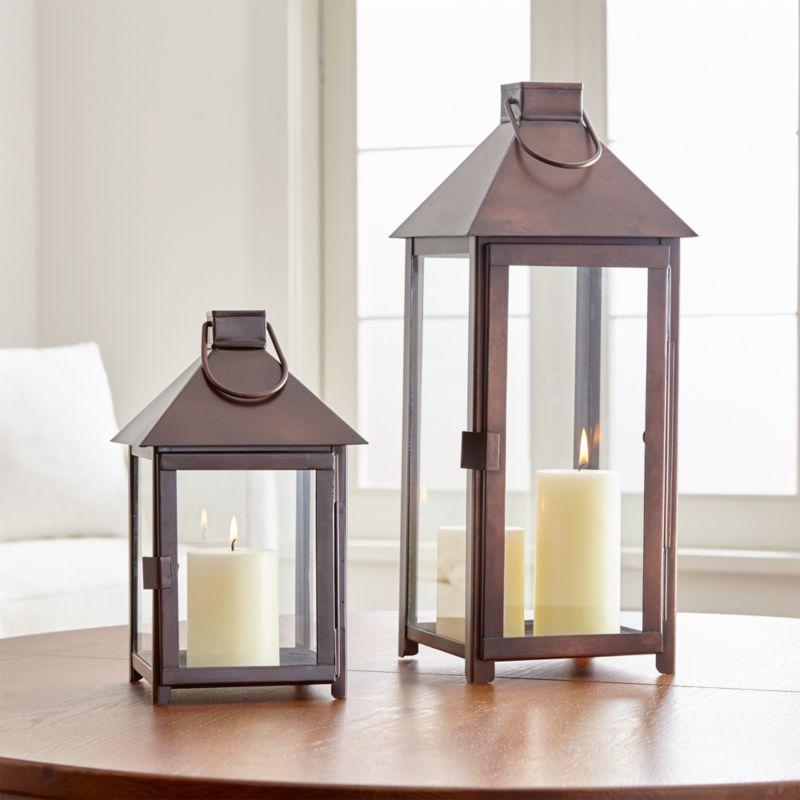 Knox Bronze Lanterns  Crate and Barrel