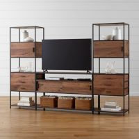 Knox Media Console with 2 Tall Storage Bookcases + Reviews ...