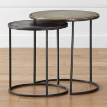 Knurl Nesting Accent Tables Set Of Two Crate