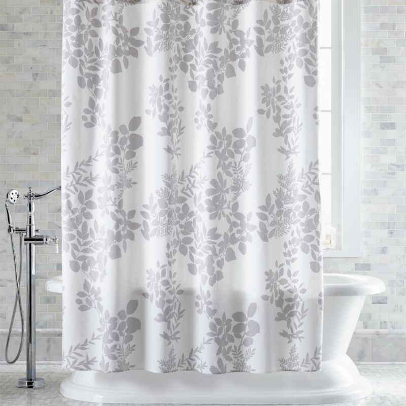 Marimekko Kukkula Grey Shower Curtain Crate And Barrel