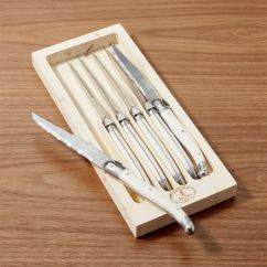 Good Kitchen Knife Set Bronze Sink Laguiole Ivory Steak Knives, Of 6 + Reviews   Crate ...