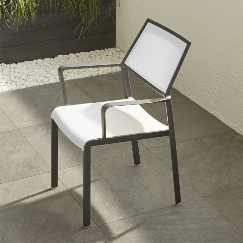 small dining chairs best for pc gaming lanai white mesh square chair reviews crate and barrel save 10