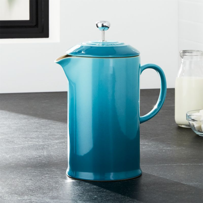 Le Creuset  Caribbean French Press  Crate and Barrel