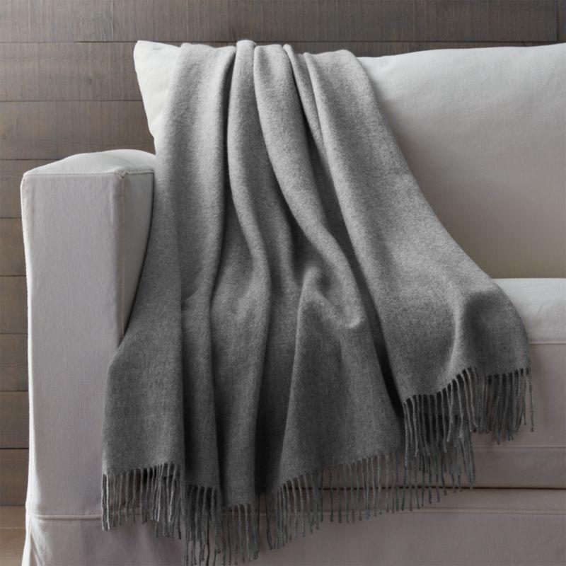 Grey Alpaca Throw Blanket  Reviews  Crate and Barrel