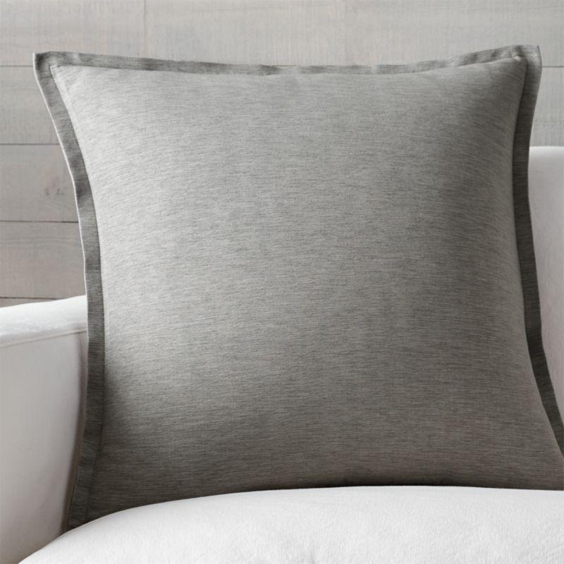 Grey Throw Pillow  Crate and Barrel