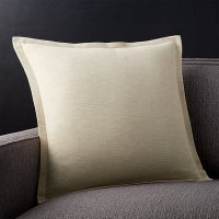 """Linden Natural 18"""" Pillow with Feather-Down Insert 