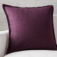 "Plum Decorative Pillow. 18"" Purple Plum Lush Ruffle ..."