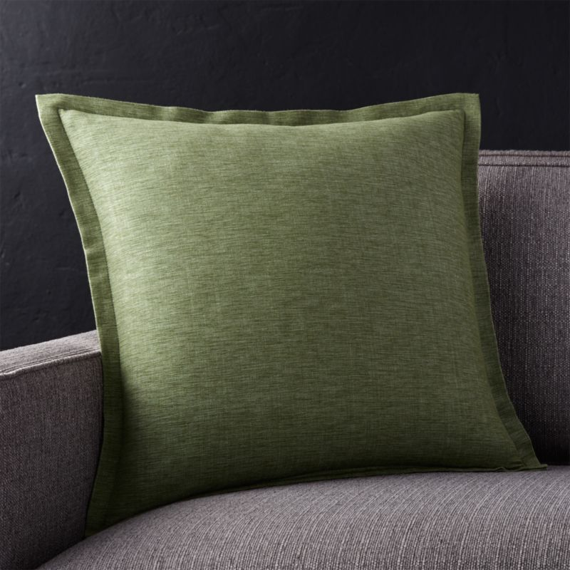 Linden Sage Green 18 Pillow with DownAlternative Insert