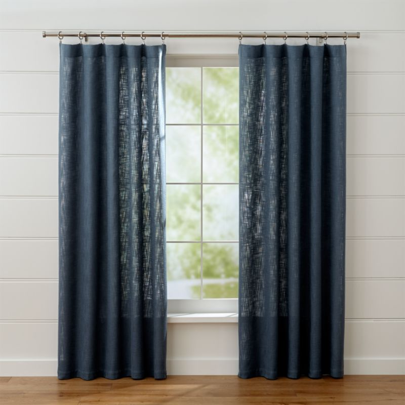 Lindstrom Blue Curtain Panels  Crate and Barrel