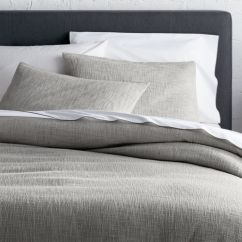 Modern Art Chair Covers And Linens Posture Price Bed Bedding Collections Crate Barrel Lindstrom Grey Duvet Pillow Shams