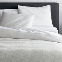 Lindstrom White Full/Queen Duvet Cover | Crate and Barrel