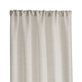 kitchen curtain space saver table curtains crate and barrel linen sheer 52 x63 natural panel