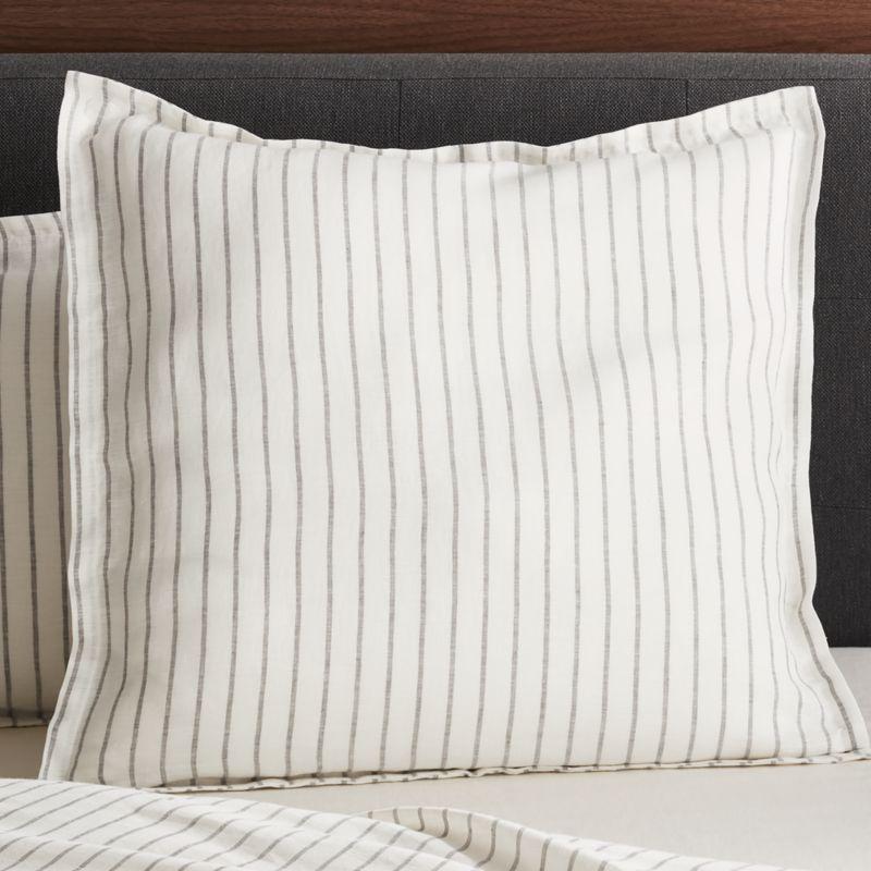 linen wide stripe warm