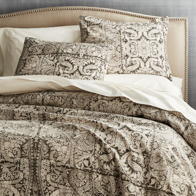 Linley Charcoal Damask Print Duvet Cover King  Reviews