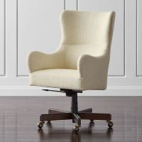 Liv Upholstered Wingback Office Chair Gibson: Oatmeal ...