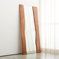 Live Edge Large Floor Mirror | Crate and Barrel