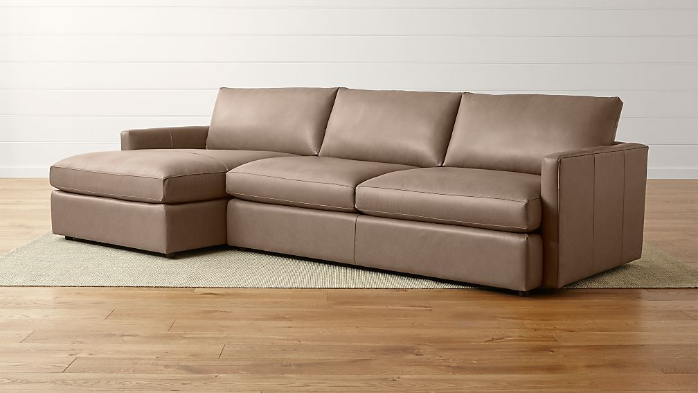 Leather Sectional Sofa Lounge Chaise