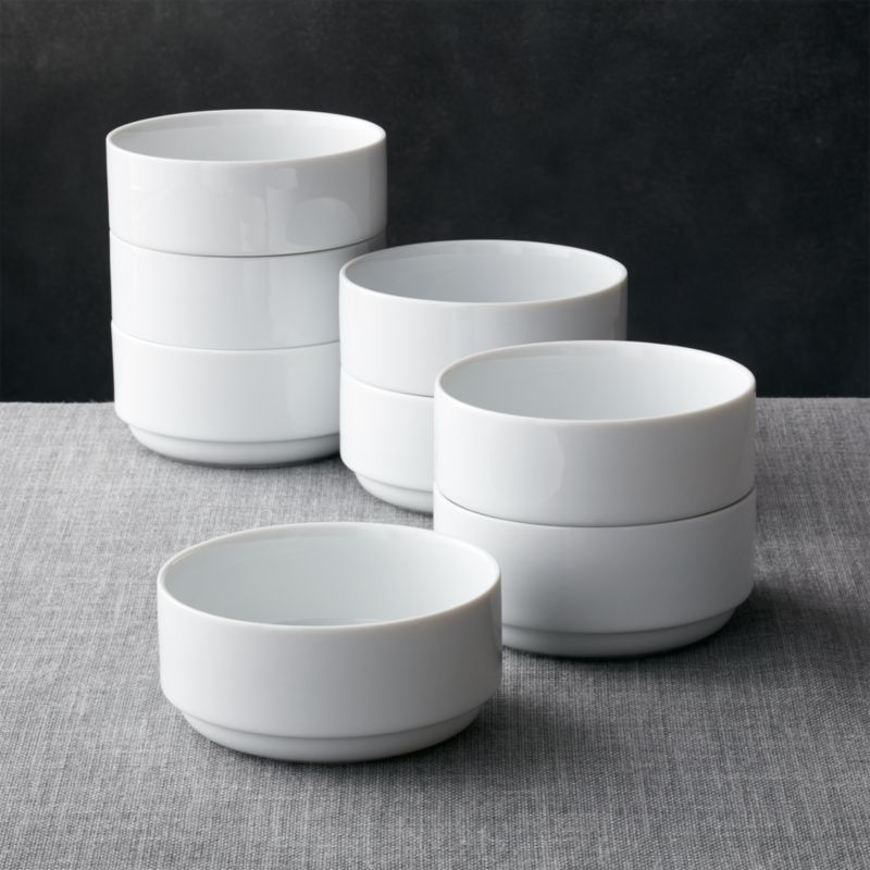 Logan Stacking Bowls Set Of 8 Reviews Crate And Barrel