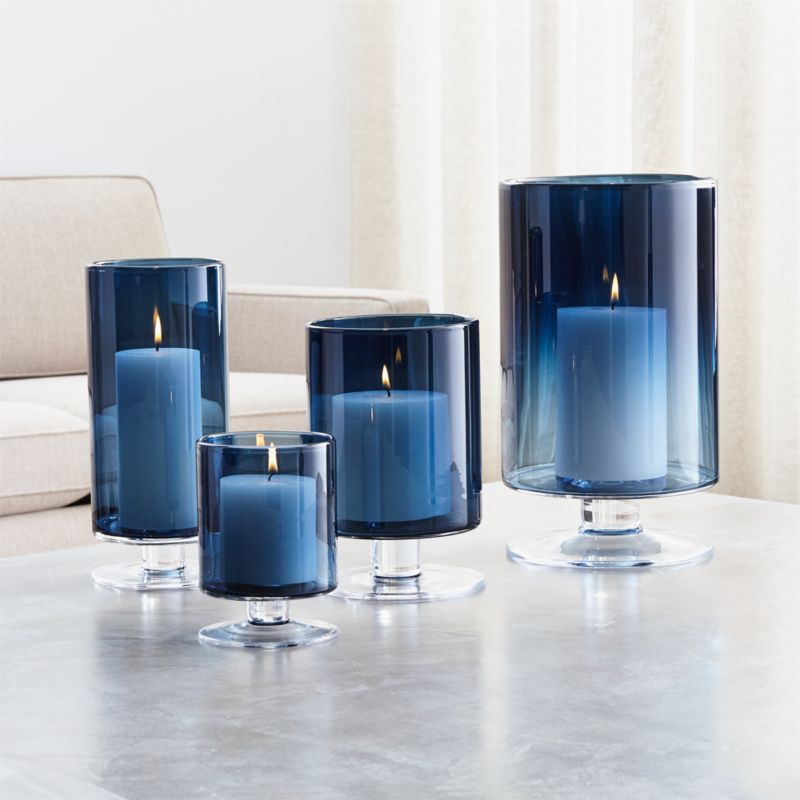 blue leather office chair rentals katy tx london hurricane candle holders | crate and barrel